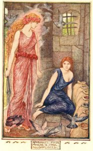 Aphrodite finds Psyche's task accomplished