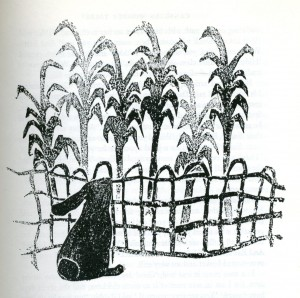 "Illustration from ""Rabbit and the Grain Buyers"""