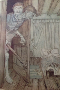 Fig. 2. Frontispiece from Arthur Rackham in The Allies' Fairy Book (London: Heinemann; Philadelphia: Lippincott, 1916; print; facing 68).