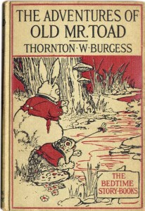Book Cover of The Adventures of Old Mr. Toad (1918) by Thornton W. Burgess