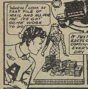 "Panel from ""Active Jim"". Active Comics, No. 3, April 1942, Commercial Signs of Canada, p. 14. Bell Features Collection, Library and Archives Canada."