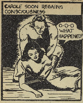 "Al Cooper, Panel from ""Capt. Red Thortan."" <em>Active Comics,</em> No. 3, April 1942, Commercial Signs of Canada, p. 21. Bell Features Collection, Library and Archives Canada."