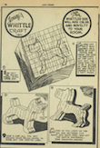 A one page spread of Young's Whittle Craft; this page has instructions on how to whittle a dog figure.