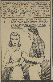 "M. Karn. Panel from ""Thunderfist."" Active Comics, No. 3, April 1942, Commercial Signs of Canada, p. 64. Bell Features Collection, Library and Archives Canada."