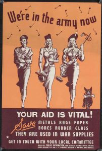 War ephemera poster featuring 3 women