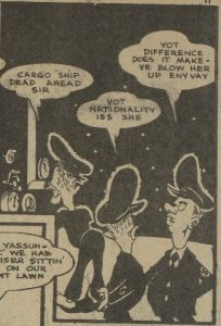 "Thomas, Bill. Panel from""Chik 'N' Fuzz."" Dime Comics. No. 22, April 1945, Bell Features Collection, Library and Archives Canada."