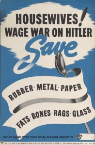 Canada. National Salvage Committee. Housewives! Wage war on Hitler. Broadside. Toronto Reference Library Baldwin Collection Public Domain.
