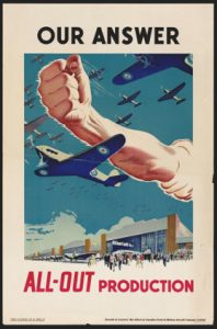 Canadian WWII industrial propaganda poster