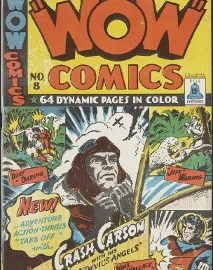 Cover of Wow Comics No. 8, part of the Canadian Whites collection.