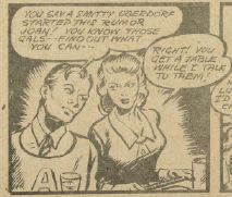 "A scene with Active Jim and Joan Brian from the comic ""Active Jim""."