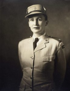 A photograph of Mary Dover in uniform taken in 1942.
